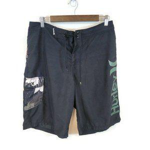 Hurley Tropical Floral Logo Swim Trunk Shorts